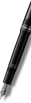 A Mont Blanc pen, as a decorative website graphic